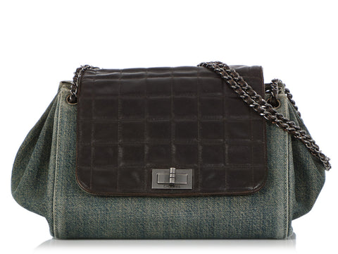Chanel Denim and Leather Accordion Flap