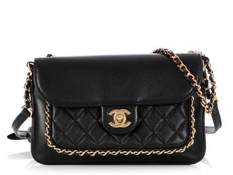 Chanel Small Black Calfskin Crossbody