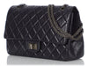 Chanel Metallic Purple Distressed Quilted Calfskin Reissue 227