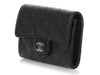 Chanel Black Quilted Caviar Classic Card Case