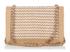 Chanel Beige and White Braided Lambskin Boy Wallet on a Chain WOC