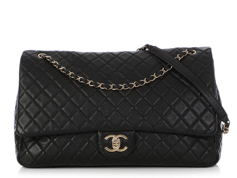 Chanel XXL Black Quilted Calfskin Travel Bag