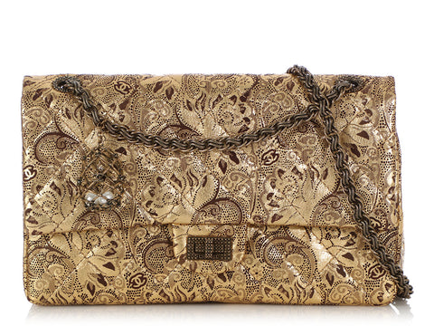 Chanel Gold Paisley Paris-Moscow Reissue 226