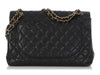Chanel Maxi Black Quilted Caviar Classic Single Flap