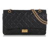 Chanel Black Quilted Aged Calfskin Reissue 227
