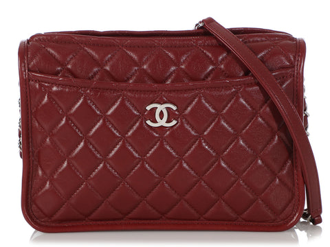 Chanel Burgundy Quilted Calfskin Crossbody