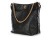 Chanel Black Quilted Calfskin Button Hobo