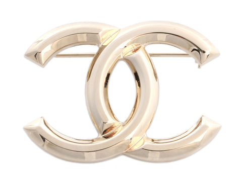 Chanel Gold-Tone Logo Pin