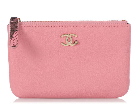 Chanel Small Pink Calfskin Classic Pouch