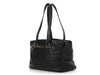 Chanel Black Chocolate Bar-Quilted Caviar Bag