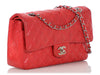 Chanel Medium/Large Red Quilted and Perforated Lambskin Classic Double Flap