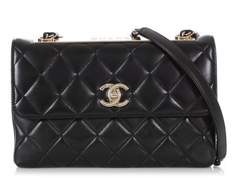 Chanel Black Quilted Calfskin Trendy CC Bag
