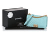Chanel Old Medium Light Blue Quilted Caviar Boy