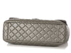 Chanel Extra Large Dark Silver Quilted Calfskin Travel Flap