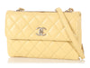 Chanel Yellow Quilted Lambskin Trendy CC Flap Bag