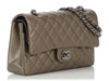 Chanel Medium/Large Iridescent Bronze Quilted Caviar Classic Double Flap