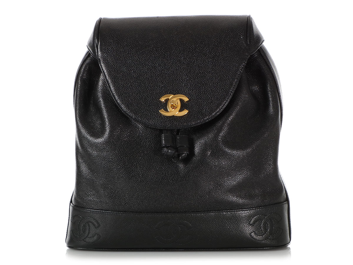 Chanel Vintage Black Caviar Backpack