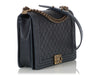 Chanel Large Dark Navy Quilted Caviar Boy Bag