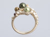 Chanel Gold-Tone Pearls, Stars, Crystals Logo Ring