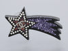 Chanel Silver-Tone Resin Shooting Star Logo Pierced Earrings