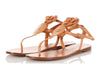 Chanel Light Brown Camellia Thong Sandals