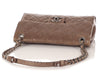 Chanel Beige Crumpled Grained Calfskin Flap