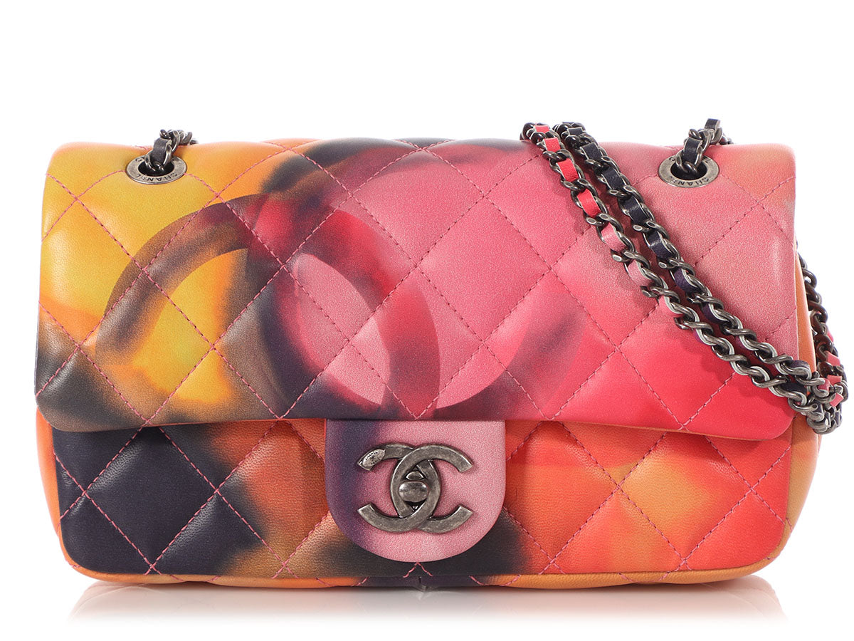 Chanel Small Multicolored Quilted Lambskin Flower Power Flap