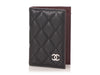 Chanel Black Caviar Classic O Card Case