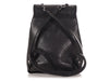 Chanel Small Black Quilted Aged Calfskin and Grosgrain Backpack