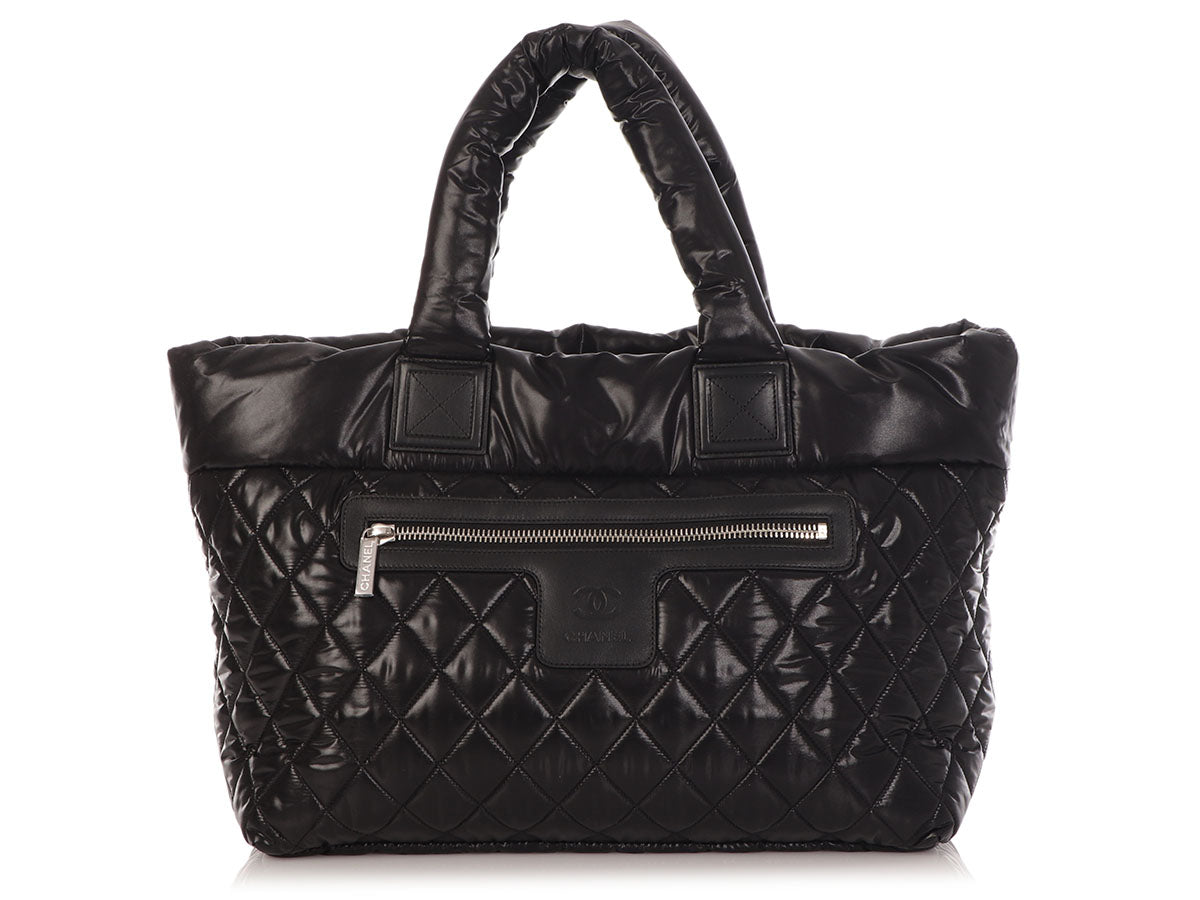 Chanel Large Black Quilted Nylon Cocoon Tote