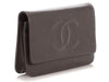Chanel Anthracite Caviar Timeless Wallet on a Chain WOC
