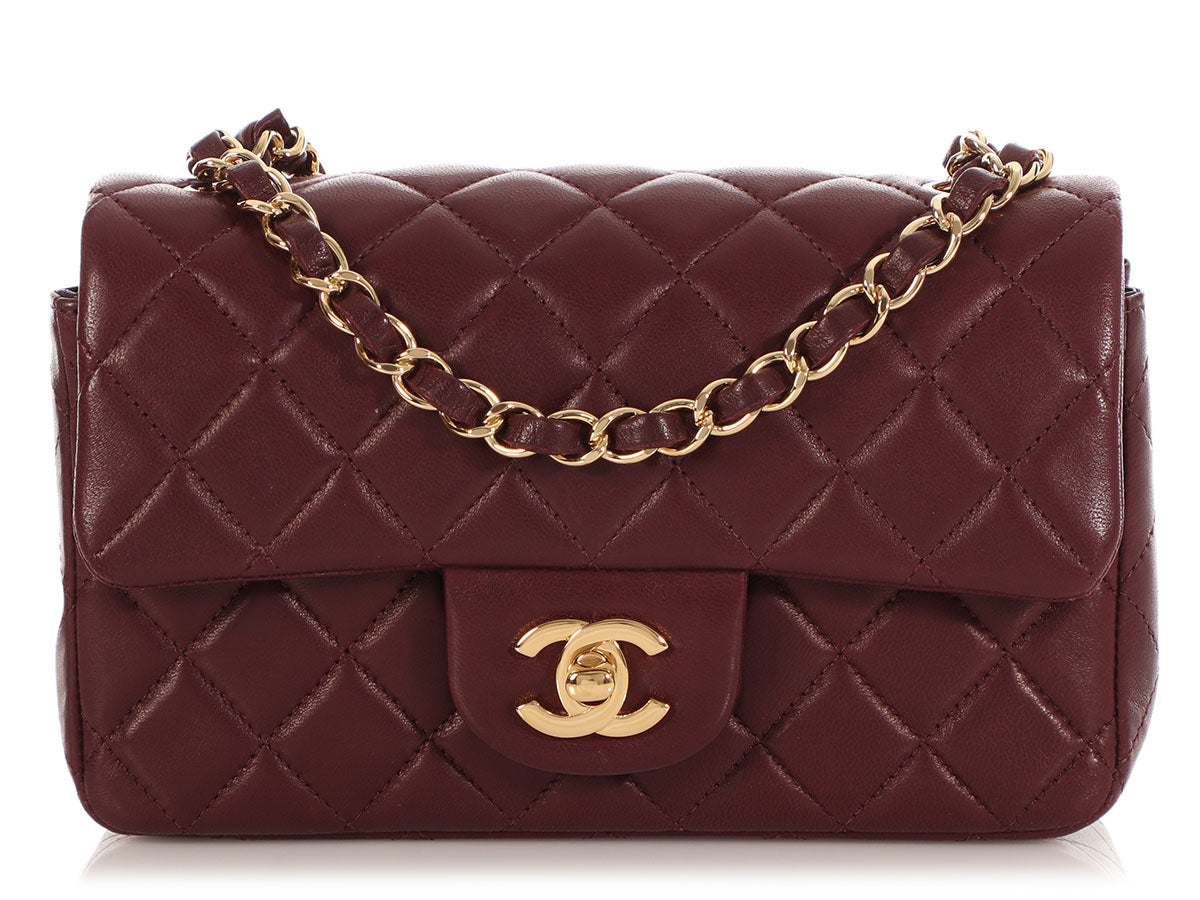 Chanel Bordeaux Quilted Lambskin Mini Classic