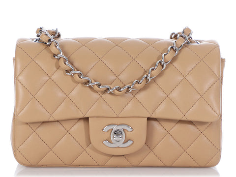 Chanel Mini Tan Quilted Lambskin Classic