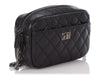 Chanel Mini Black Quilted Distressed Calfskin Reissue Camera Case