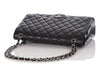 Chanel Maxi Black Quilted Caviar Classic Double Flap