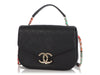 Chanel Black Quilted Caviar Paris-Cuba Thread Around Flap