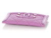 Chanel Purple Quilted Caviar Card Holder