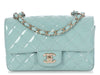 Chanel Light Blue Quilted Patent Mini Classic