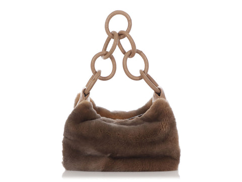 Chanel Beige Rabbit Fur Bag