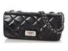 Chanel Small Quilted Black Patent East West Reissue