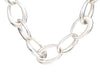 Chanel Sterling Silver Oval Link Necklace