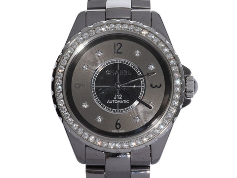 Chanel Titanium, Ceramic, Stainless Steel, and Diamond Chronomatic J12 Watch