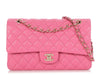 Chanel Medium/Large Pink Quilted Caviar Classic Double Flap