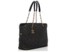 Chanel Black Chevron-Quilted Soft Calfskin Timeless Shopping Tote