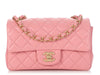 Chanel Mini Pink Quilted Lambskin Classic Flap