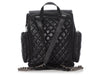 Chanel Black Part-Quilted Distressed Calfskin Casual Rock Airlines Backpack