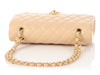 Chanel Medium/Large Beige Quilted Caviar Classic Double Flap