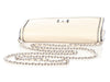 Chanel Off-White Distressed Leather Wallet on a Chain WOC
