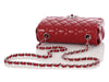 Chanel Mini Red Quilted Caviar Classic