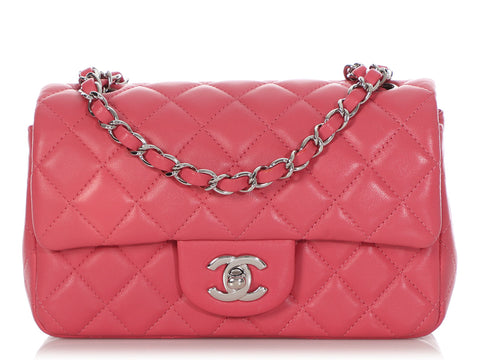 Chanel Mini Rose Quilted Lambskin Classic
